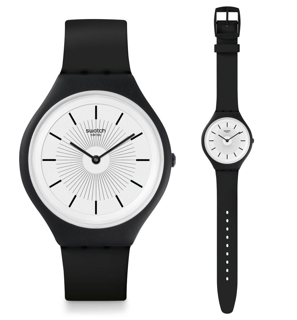 Swatch Skin Big Skinnoir Uhr SVUB100 Analog Silikon Schwarz | eBay