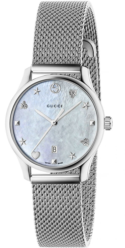 Gucci Damenuhr Gucci G-Timeless SM29 YA126583 Analog Edelstahl ...