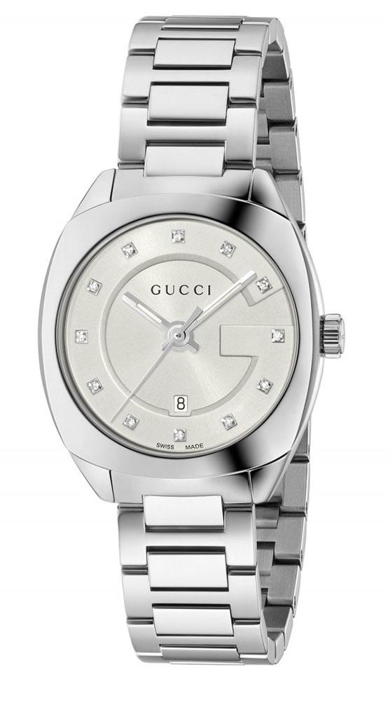 Gucci GG2570 Damenuhr YA142504 Analog Edelstahl Silber   eBay